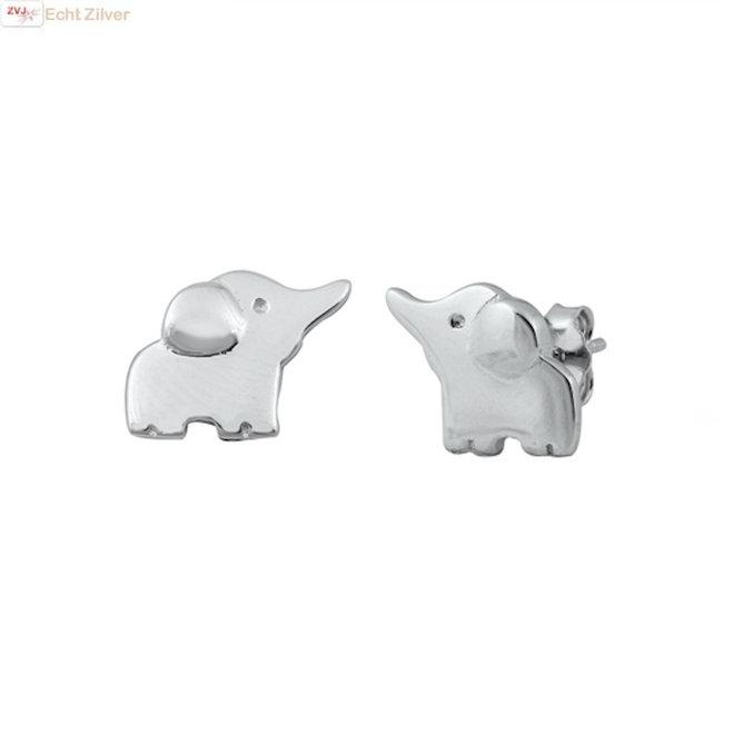 Zilveren kleine olifant oorstekers