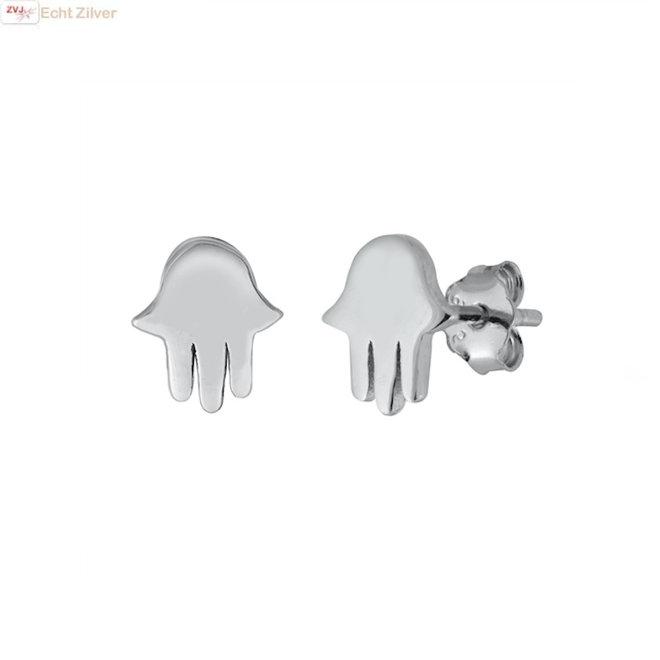 Zilveren kleine jellyfish of kwal oorbellen