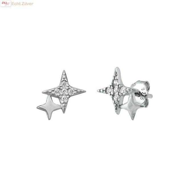 Zilveren tiny stars oorstekers