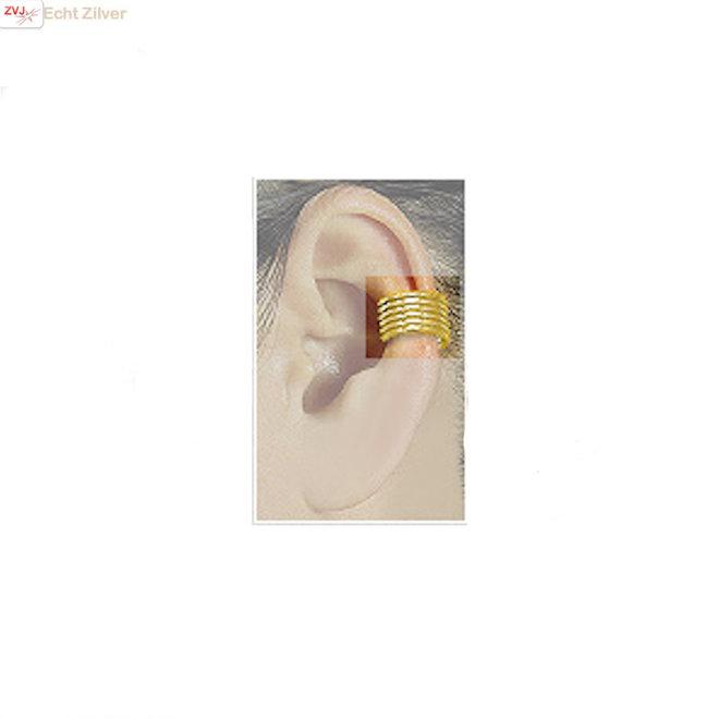 Goud vergulde 925 zilveren ear cuff klem oorbellen