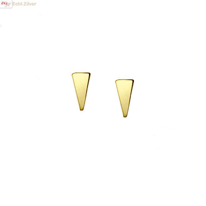 Goud vergulde 925 zilveren triangel of driehoek studs