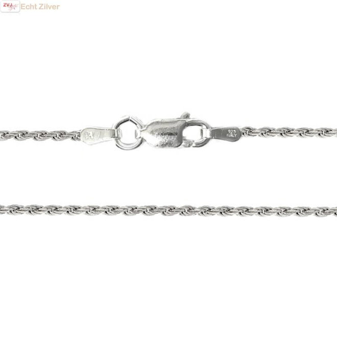 Zilveren rope ketting 50 cm 1.6 mm