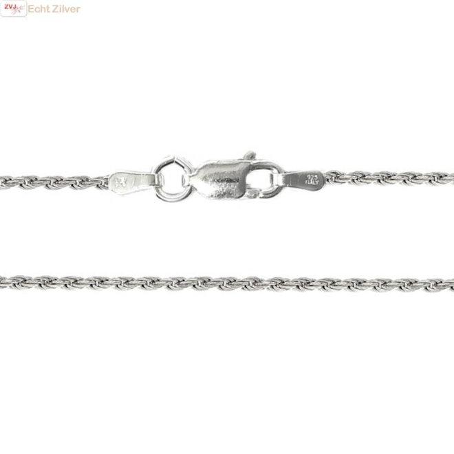 Zilveren rope ketting 40 cm 1.6 mm