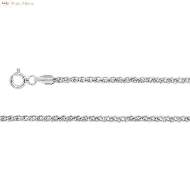 Zilveren spiga ketting 50 cm 1,5 mm
