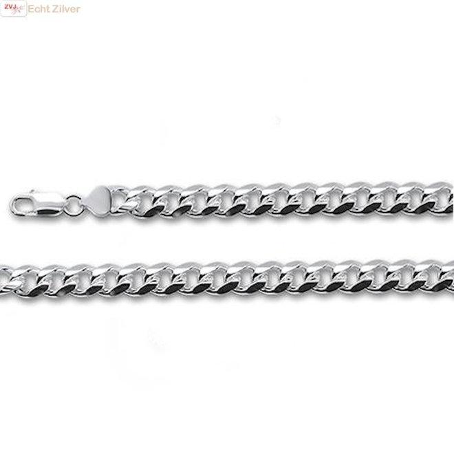 Zilveren 9,3 mm miami cuban link heren schakelarmband