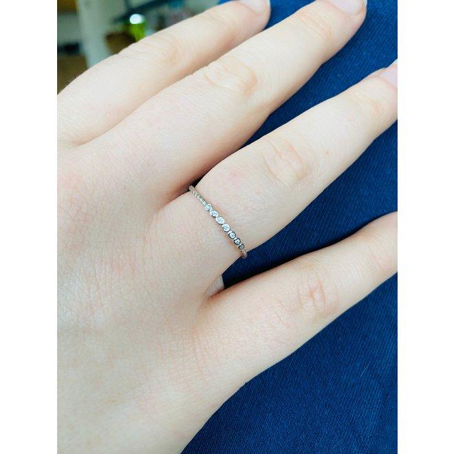 Zilveren 7 bling rope design ring
