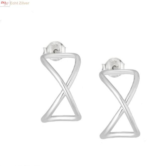 Zilveren infinity oorstekers