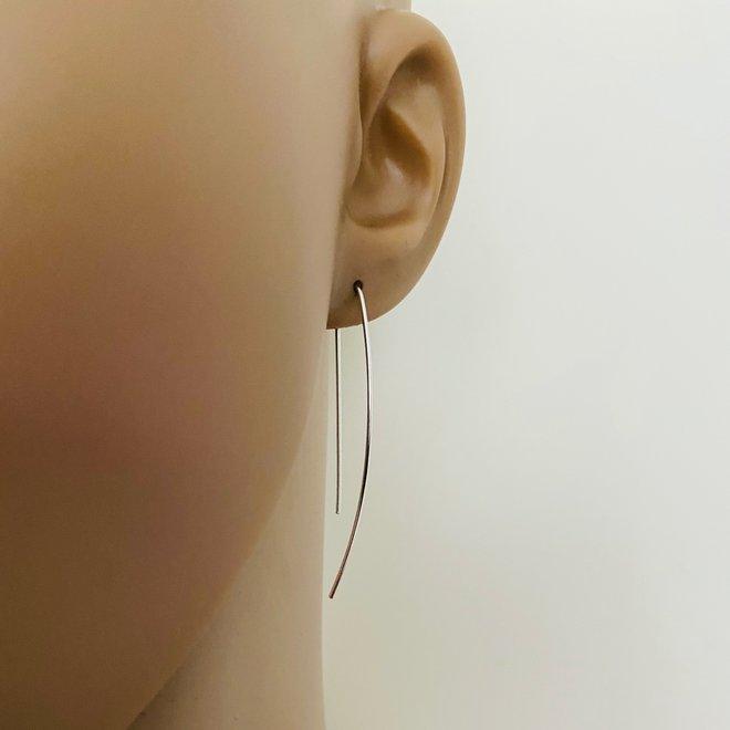 Zilveren draad oorhangers simplicity