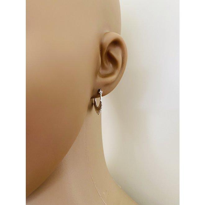 925 Zilveren oorringen dot ornamenten