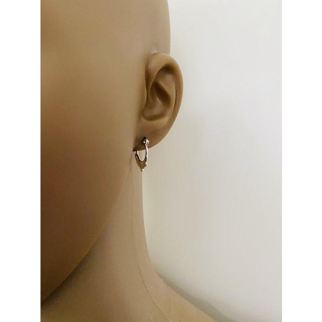 925 Zilveren Zilveren oorringen tiny dots