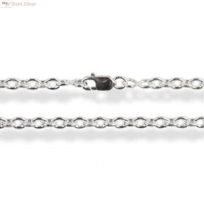 Zilveren kabel ketting 50 cm 1,6 mm