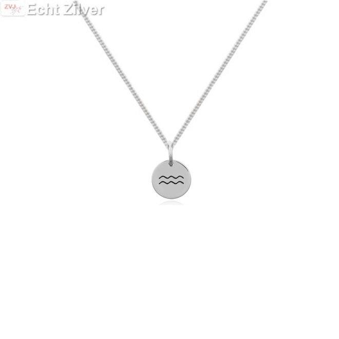 925 Zilveren Waterman Aquarius sterrenbeeld zodiak ketting