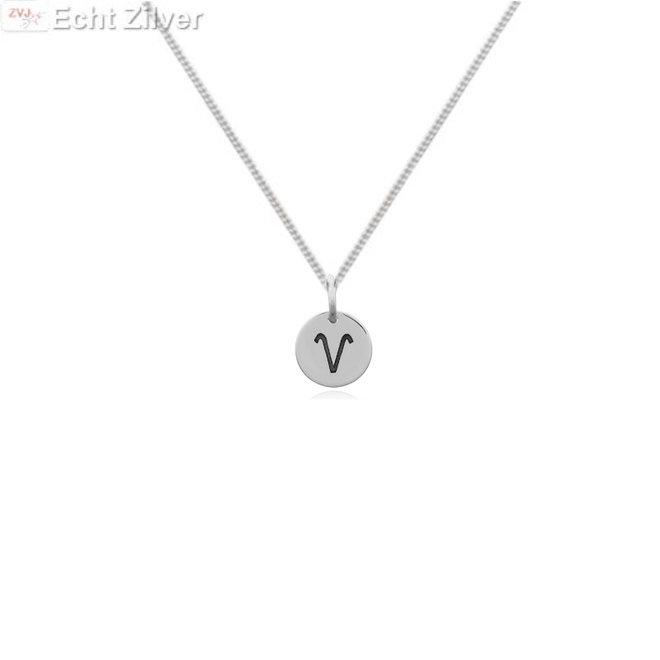 Zilveren Ram sterrenbeeld ketting