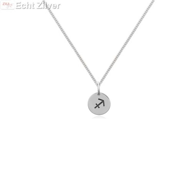 Zilveren Boogschutter sterrenbeeld ketting