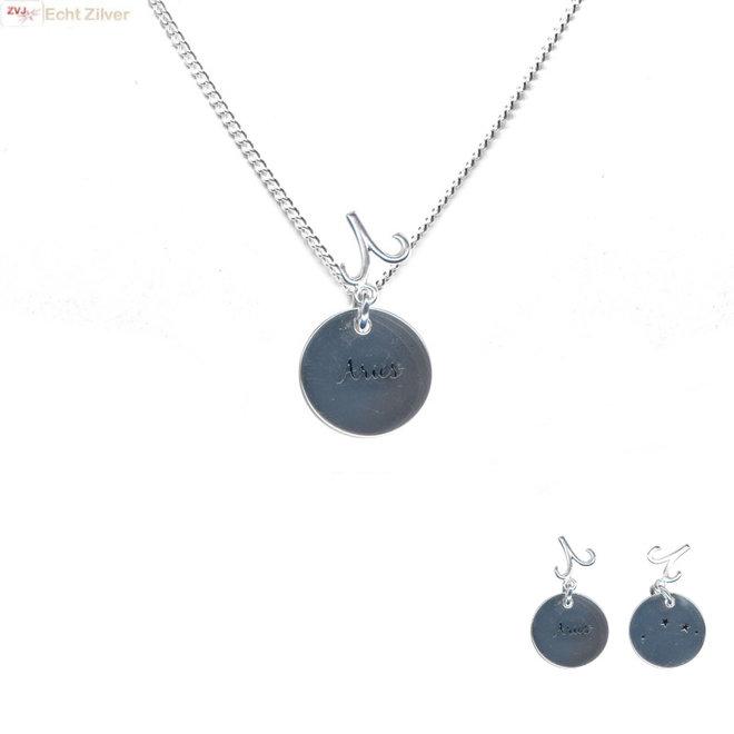 Zilveren Aries zodiak sterrenbeeld ketting
