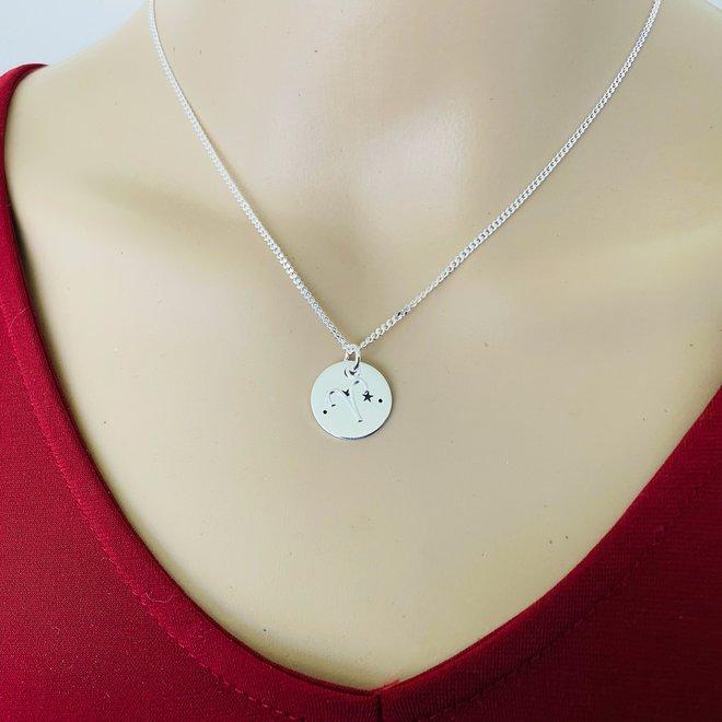 925 Zilveren Ram Aries sterrenbeeld zodiak ketting