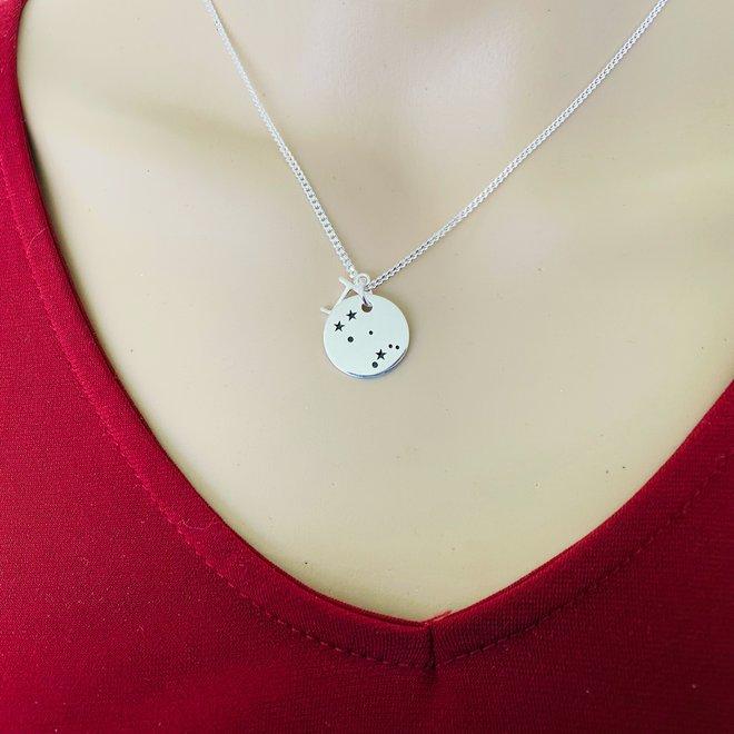 925 Zilveren Tweelingen Gemini sterrenbeeld zodiak ketting