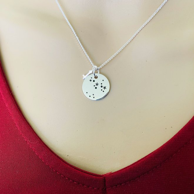 925 Zilveren Boogschutter Sagittarius sterrenbeeld zodiak ketting
