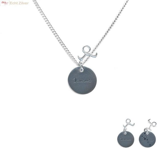 Zilveren Taurus zodiak sterrenbeeld ketting