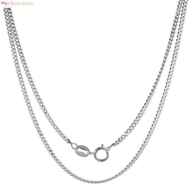 Zilveren gourmet ketting 40 cm lang 1.8 mm breed