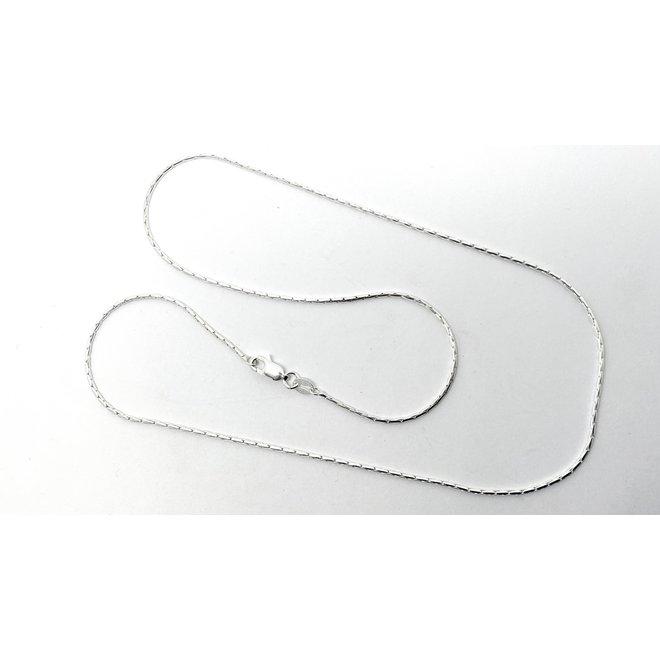 Zilveren cardano ketting 60 cm en 1.3 mm breed