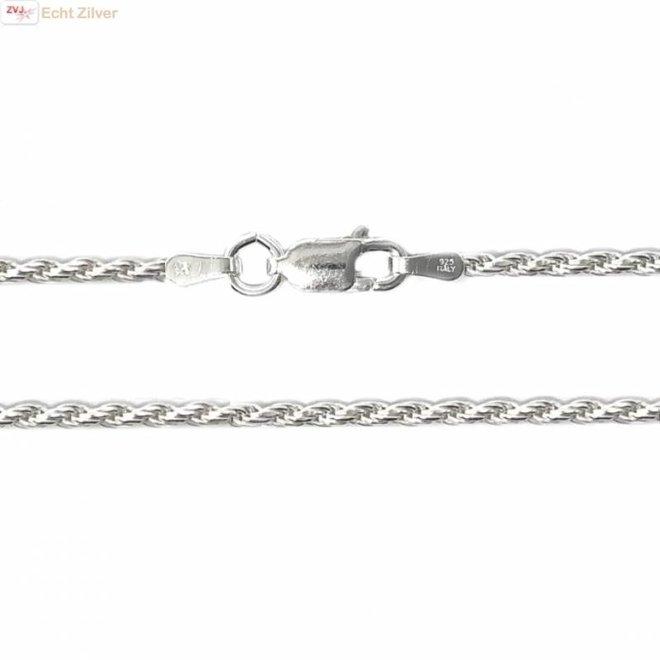 Zilveren rope ketting 60 cm 2 mm