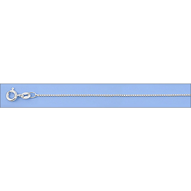 Zilveren box ketting 36 cm 1 mm breed