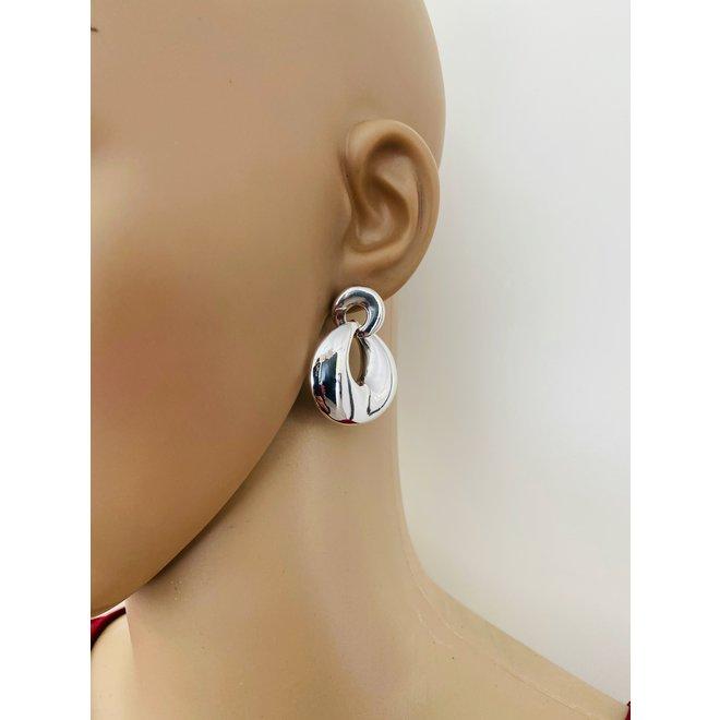 Zilveren design electroform oorstekers