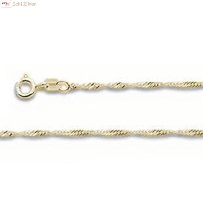 Goud op Zilver singapore ketting 45 cm