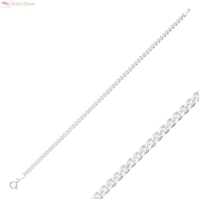 Zilveren nonna armband 19 cm 3 mm breed