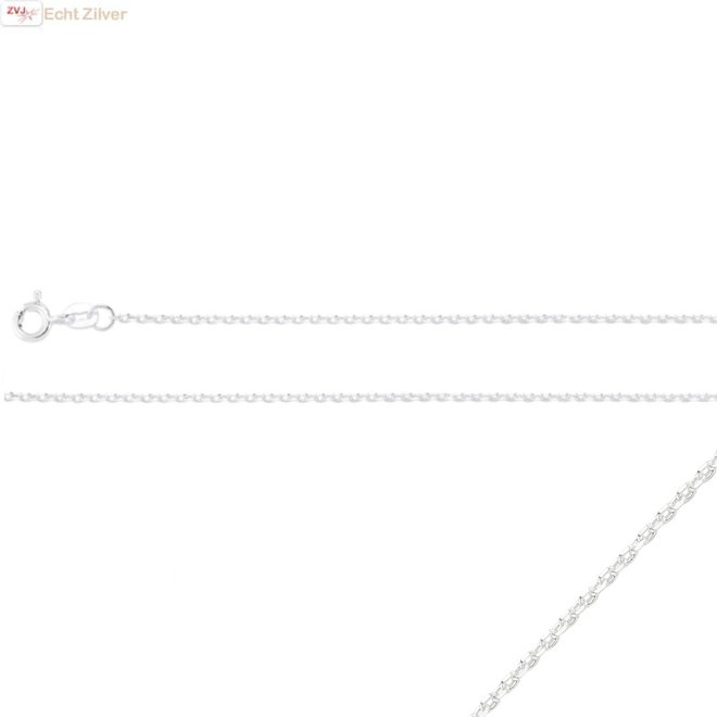 Zilveren minimalistisch kabel ketting
