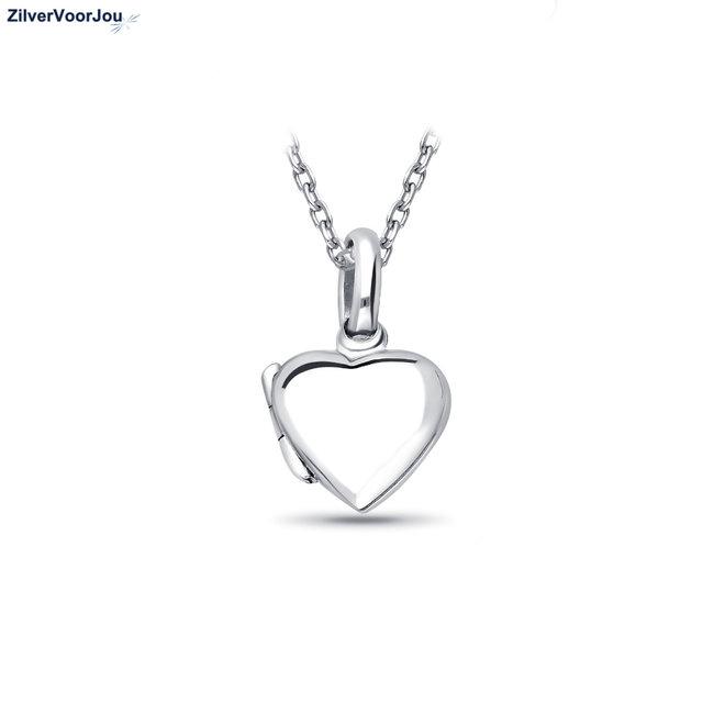 Zilveren klein hart medaillon