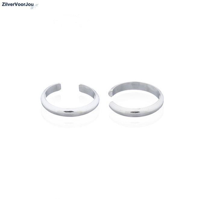 Zilveren helix earcuff's