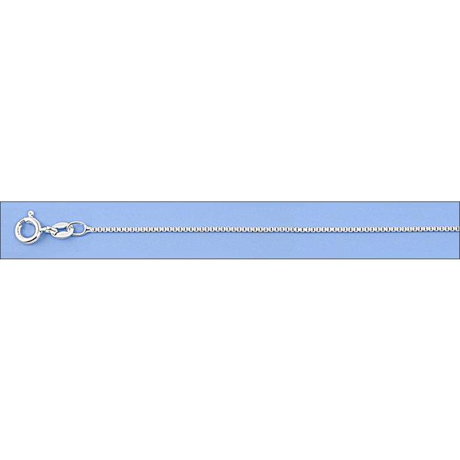 Zilveren box  ketting 45 cm 1 mm