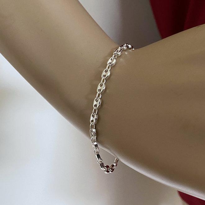 Zilveren anker schakel armband  4.2 mm breed