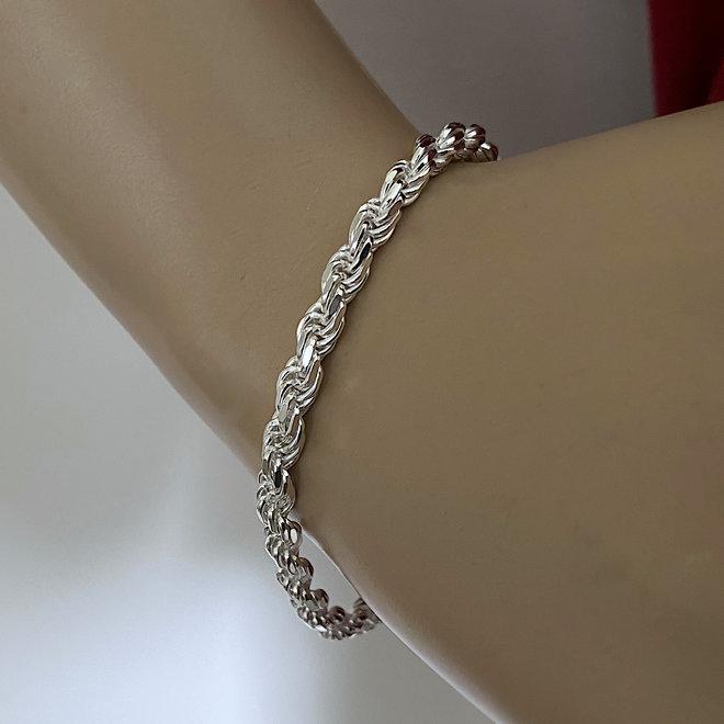 Zilveren rope armband 4.5 mm