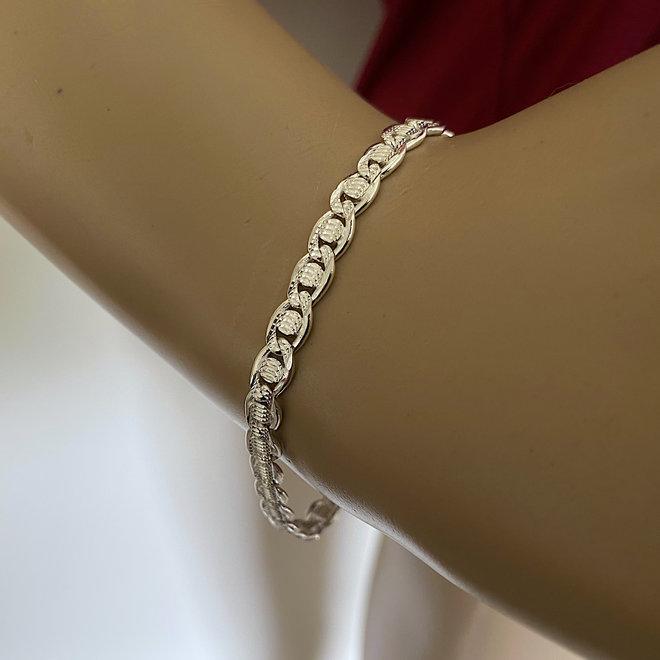 Zilveren mariner schakel armband 5.8 mm breed