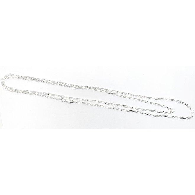 Zilveren vierkante kabel ketting 40 cm 2,1 mm