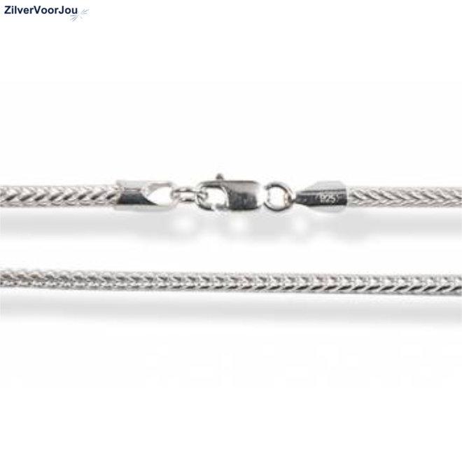 Zilveren foxtail ketting 70 cm