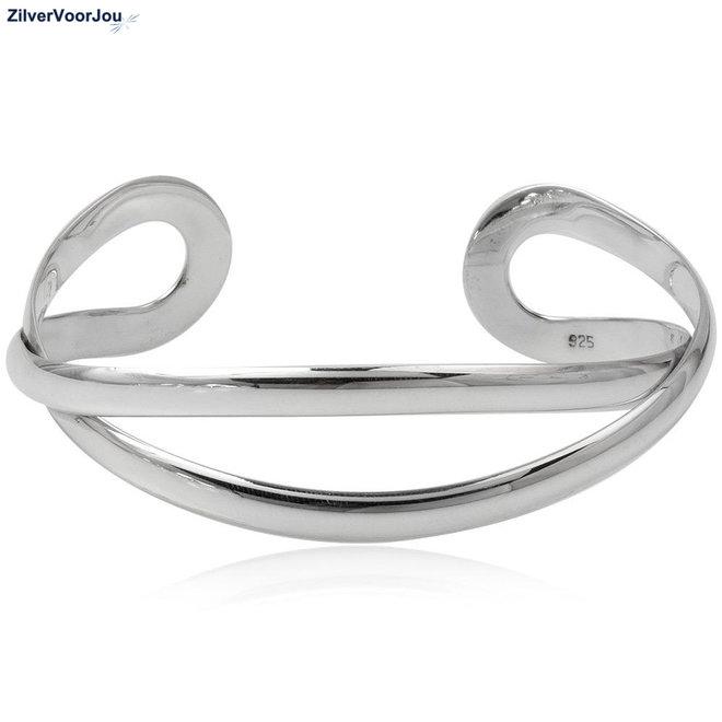 Zilveren sier klemarmband