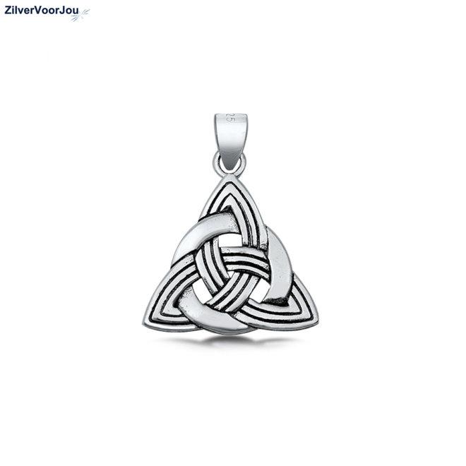 Zilveren keltische tribal kettinghanger