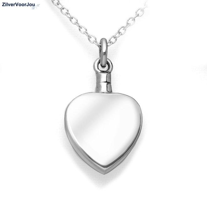 Zilveren hart ashanger