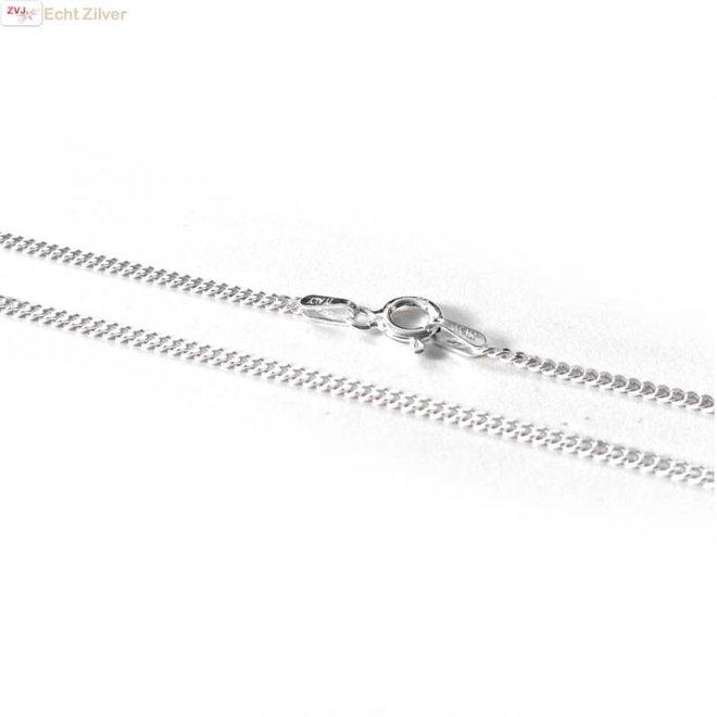 Zilveren gourmet ketting 45 cm lang 1.8 mm breed