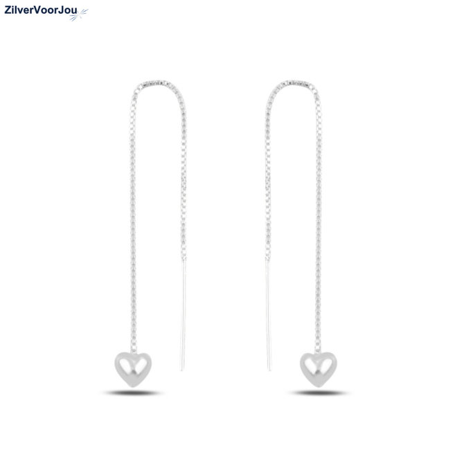 Zilveren hart threaders