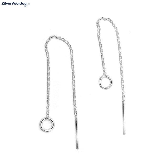 Zilveren circle threaders