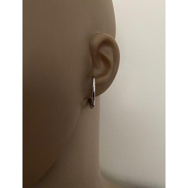 925 Zilveren dulcet oorstekers rhodium