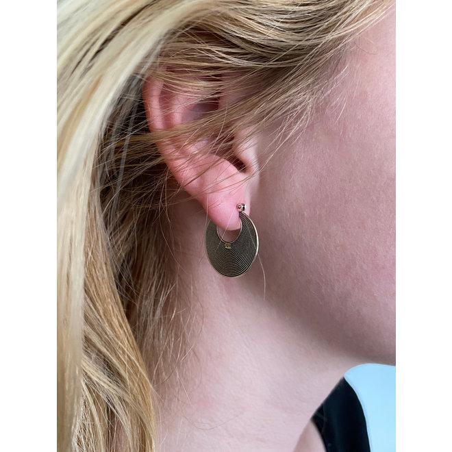 Zilveren Balinese oorringen 25 mm