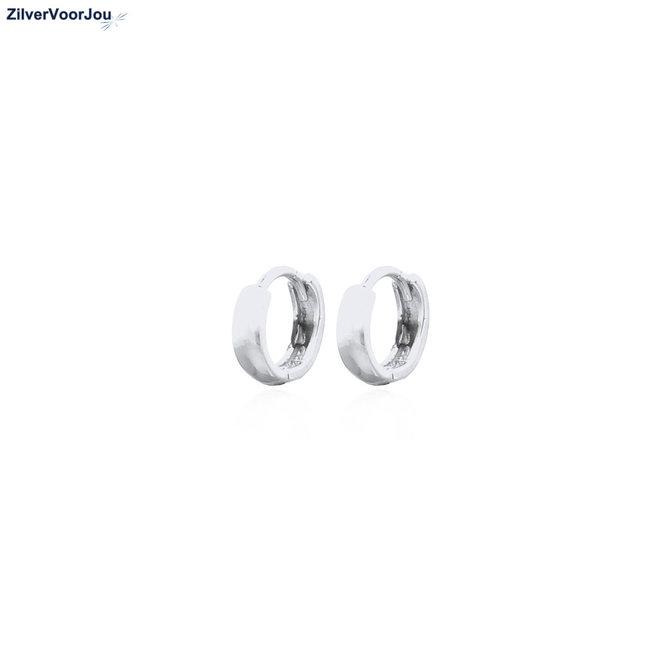 Zilveren mini huggie hoops