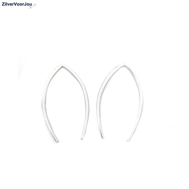 Zilveren simplicity kleine draad oorhangers