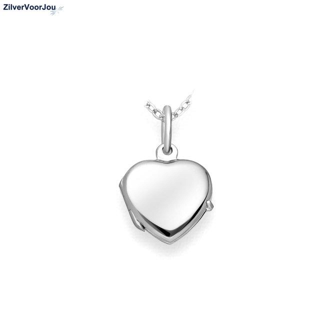 Zilveren hart medaillon